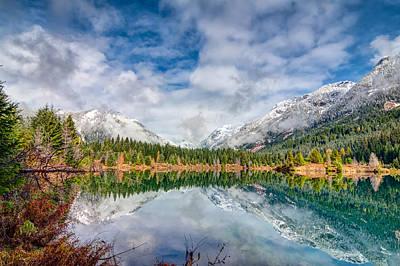 Reflections On Golden Creek Pond Art Print