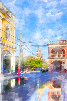 Photograph - Reflections On Historic Granada - Nicaragua by Mark E Tisdale