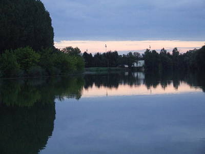 Photograph - Reflections On La Saone by Sandra Muirhead