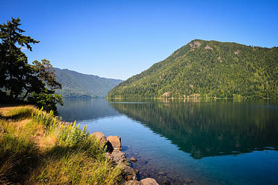 Photograph - Reflections On Lake Crescent by Ronda Broatch