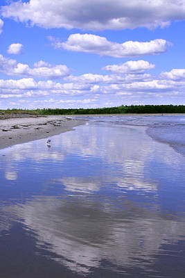 Photograph - Reflections On Laudholm Beach by Jemmy Archer