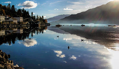 Reflections On Loch Goil Scotland Art Print by Lynn Bolt