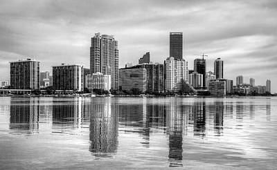 Photograph - Reflections On Miami by William Wetmore