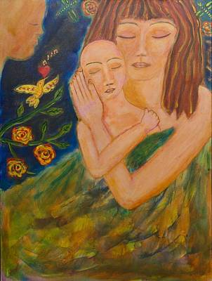 Shiloh Sophia Art Painting - Reflections On Motherhood by Havi Mandell