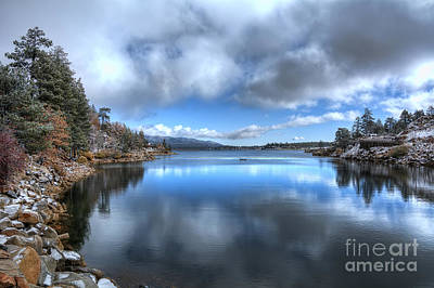 Landscape. Mountain Trees Water Bush Photograph - Reflections On The Lake by Eddie Yerkish