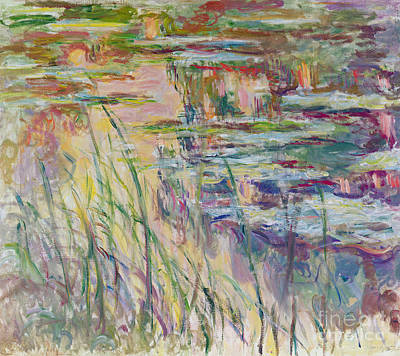 River View Painting - Reflections On The Water by Claude Monet