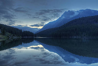 Reflections On Two Jack Lake Art Print by Darlene Bushue