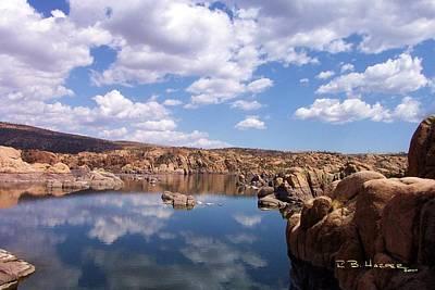 Photograph - Reflections On Watson Lake by R B Harper