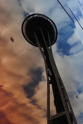 Photograph - Reflections Space Needle II by Robert  Moss