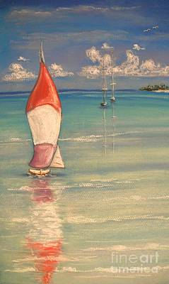 Painting - Reflections by The Beach  Dreamer