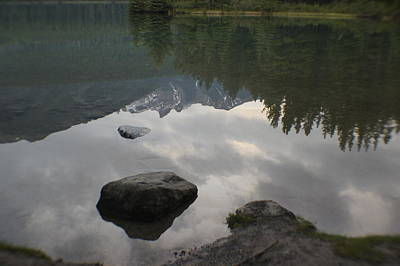 Photograph - Reflections Two Jacks Lake by Bj Hodges