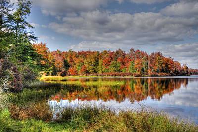 Reflective Autumn Art Print by David Simons