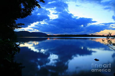 Photograph - Reflective Blues On Lake Umbagog  by Neal Eslinger