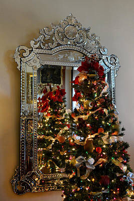 Photograph - Reflective Christmas Tree by Judy Wanamaker