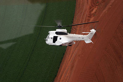 Sean Rights Managed Images - Reflective Helicopter Royalty-Free Image by Paul Job