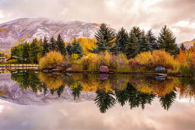 Impressionist Landscapes - Reflective Morning - Aspen Colorado by Gregory Ballos