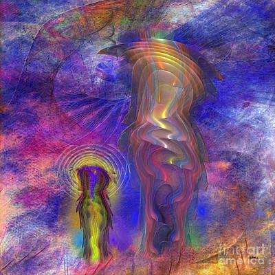 Digital Art - Reflective Peace - Square Version by John Robert Beck