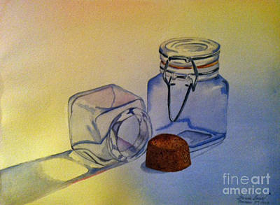 Reflective Still Life Jars Art Print