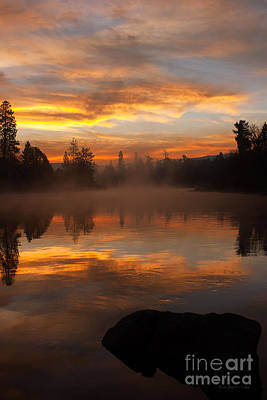 Reflective Sunrise Art Print by Beve Brown-Clark Photography