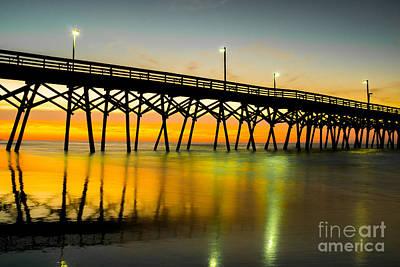 Myrtle Beach Ocean Photograph - Reflective Waters by Matthew Trudeau