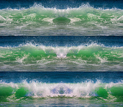 Topsail Island Photograph - Reflective Wave Sequence by Betsy Knapp