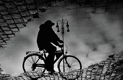 Cycle Photograph - Reflex... by Antonio Grambone