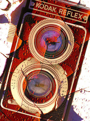 Vintage Camera Photograph - Kodak Reflex II by Mike McGlothlen