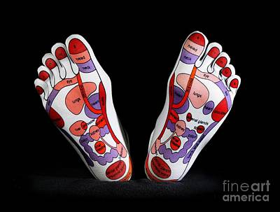 Manipulation Photograph - Reflexology Foot Map by Cordelia Molloy