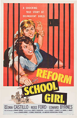 1957 Movies Photograph - Reform School Girl, Poster Art, 1957 by Everett