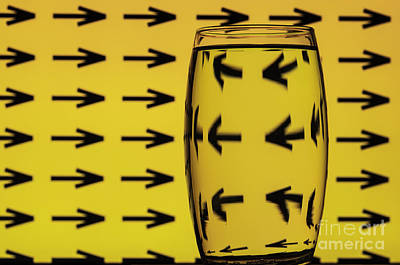 Photograph - Refracted Patterns 12 by Steve Purnell
