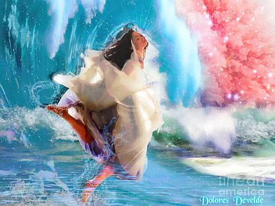 Baptizing Digital Art - Refreshed by Dolores Develde