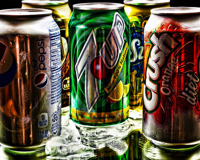 7 Up Photograph - Refreshing by Camille Lopez
