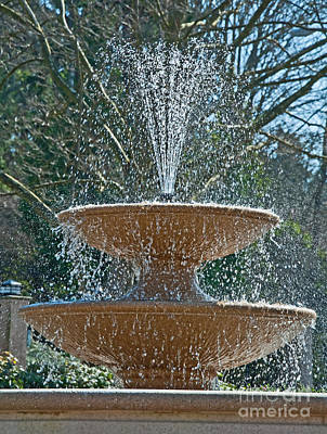 Photograph - Refreshing Fountain Of Water In Sunshine by Valerie Garner