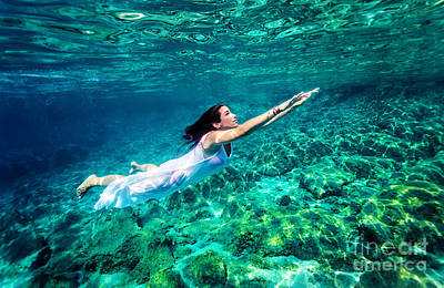Photograph - Refreshing Swimming Underwater by Anna Om
