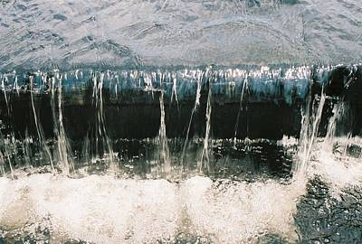 Art Print featuring the photograph Refreshing Waterfall by Ramona Whiteaker