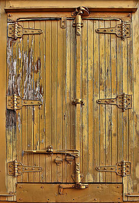 Feature Photograph - Refrigerated Boxcar Door by Marcia Colelli