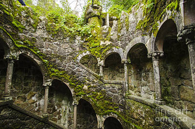 Photograph - Regaleira Initiation Well 4 by Deborah Smolinske