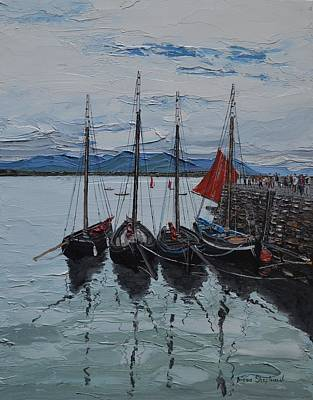 Painting - Regatta Day Roundstone Ireland by Diana Shephard