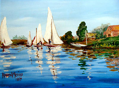Painting - Regatta De Argenteuil by Karon Melillo DeVega