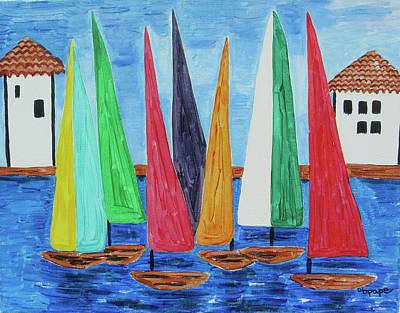 Painting - Regatta by Diane Pape