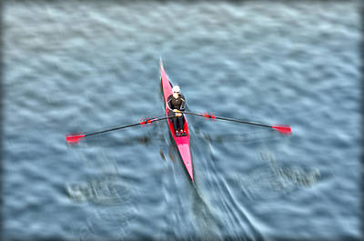 Rower Digital Art - Regatta Girl by Bill Cannon