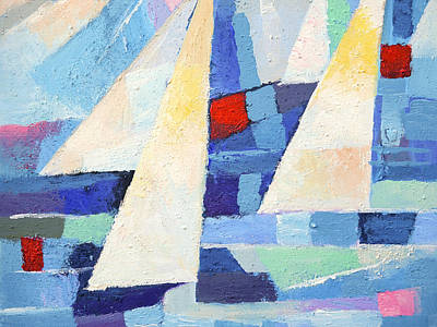 Abstract Seascape Art Painting - Regatta Marine by Lutz Baar