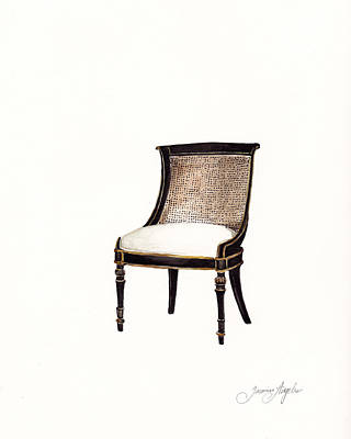 Painting - Regency Chair by Jazmin Angeles