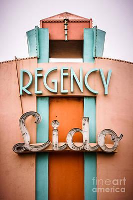 Regency Lido Theater Newport Beach Picture Art Print by Paul Velgos