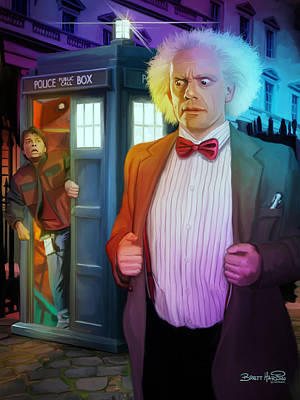 Tardis Painting - Regeneration by Brett Hardin