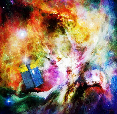 Tardis Painting - Regeneration by Sandy MacGowan
