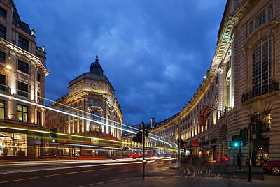 London Skyline Royalty-Free and Rights-Managed Images - Regent Street London by Izzy Standbridge