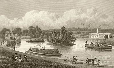 Regent's Canal, 1820s Art Print by British Library