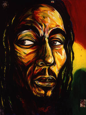 Bob Marley Reggae King Art Print by Cardell Walker