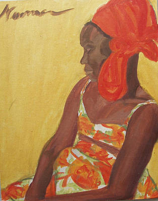 Hand On Head Painting - Reggae Model by Esther Newman-Cohen